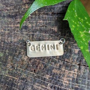Jewelry - ♊ Gemini Handmade Necklace Bar Charm ♊